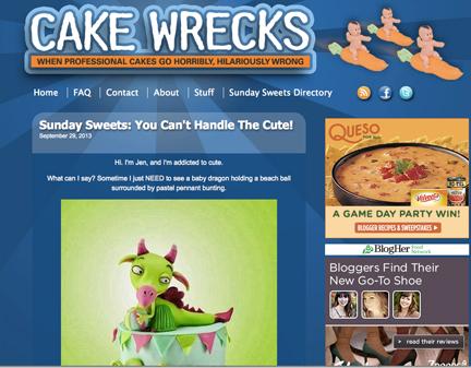 """Cake Wrecks, """"Sunday Sweets"""""""